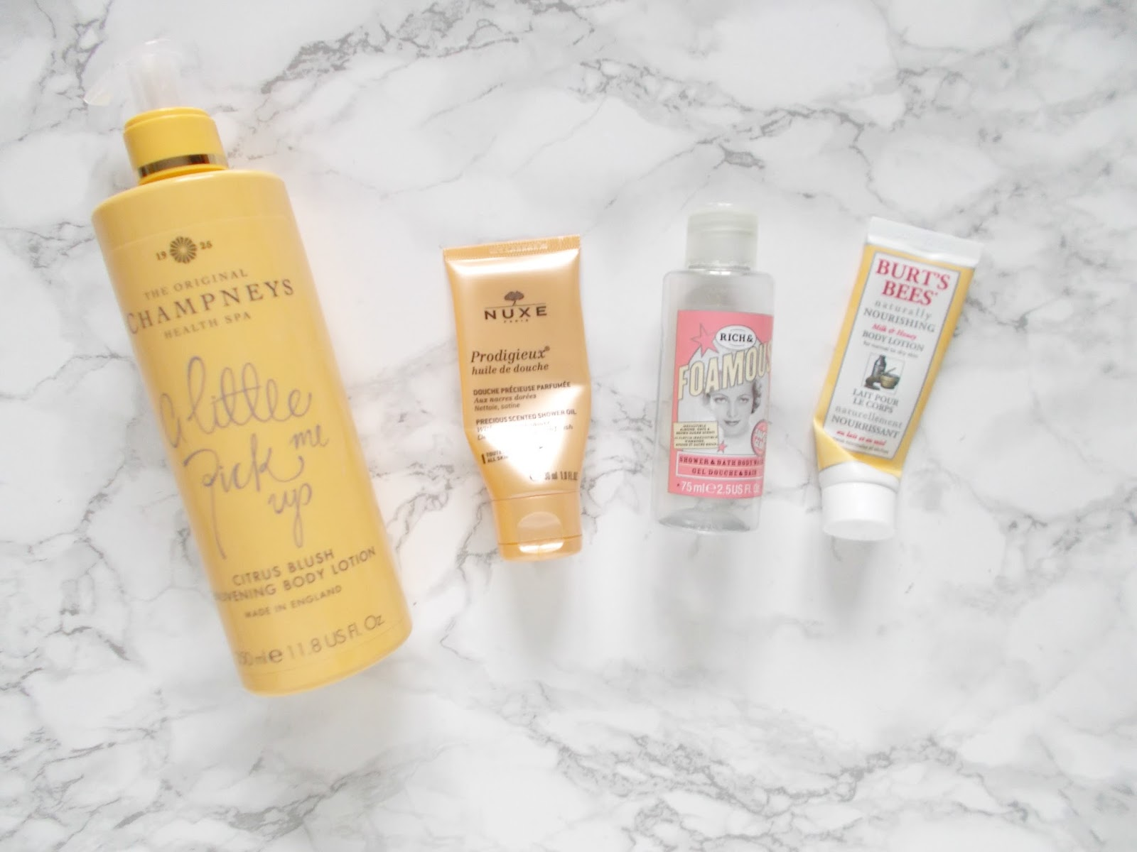 bodycare empties review champneys soap and glory nuxe burts bees