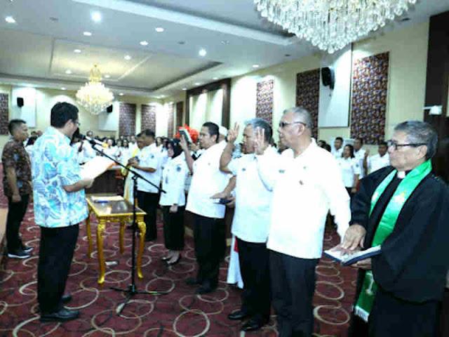 Steven Kandouw Lantik Pejabat Fungsional di Pemprov Sulawesi Utara