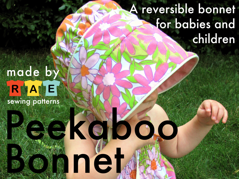 Peekaboo Bonnet Sewing Pattern Made By Rae