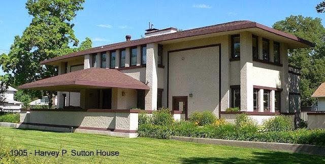 Residencia Harvey P. Sutton de 1905 diseñada por Frank Lloyd Wright en Nebraska, Estados Unidos