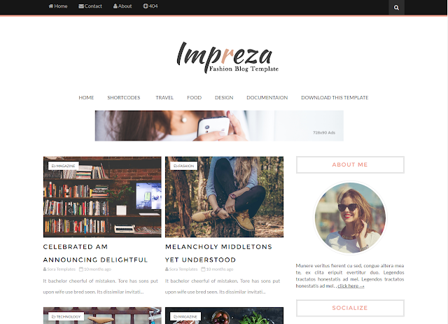 impreza new modern blogger templates