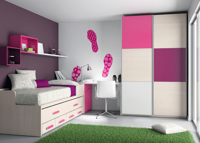 Mueble juvenil for Dormitorios para ninas adolescentes