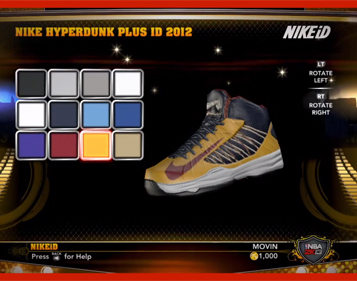 NBA 2K13 NIKEiD Shoes