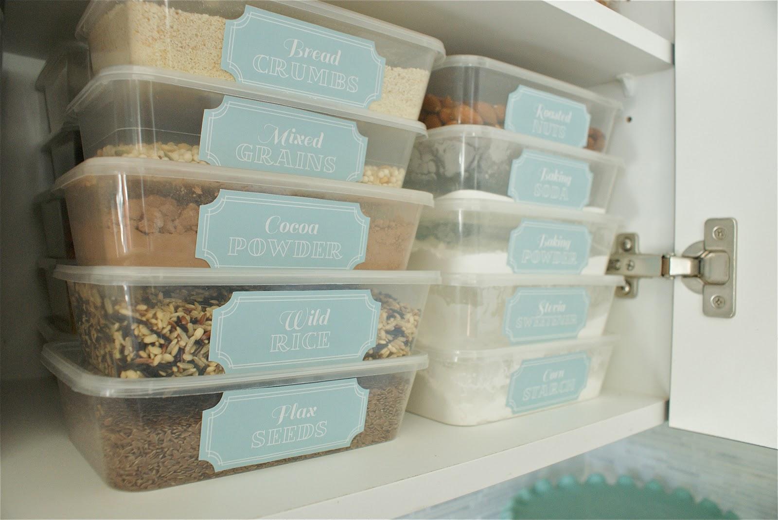 Kitchen Storage Boxes Cabinet Design Pantry Pretty Dollar Store Makeover