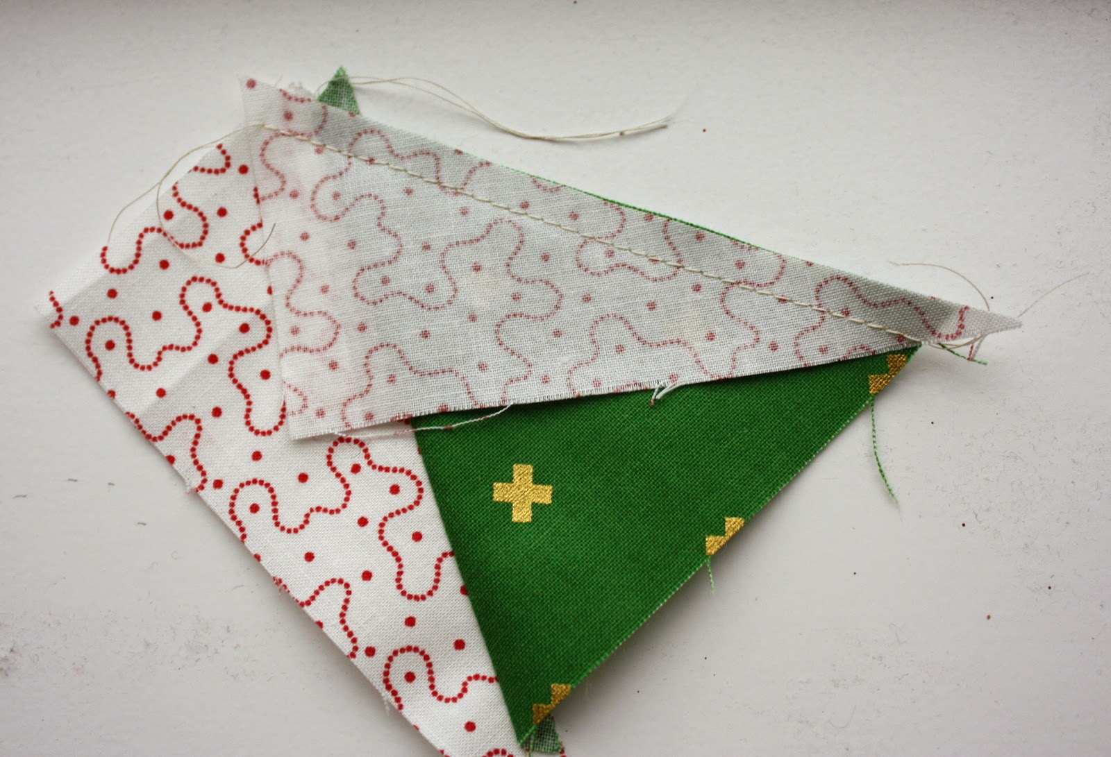 Patchwork Christmas Tree Quilt Block Tutorial featured by top US quilting blog, Diary of a Quilter