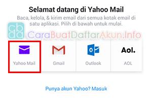 cara buat email baru di yahoo