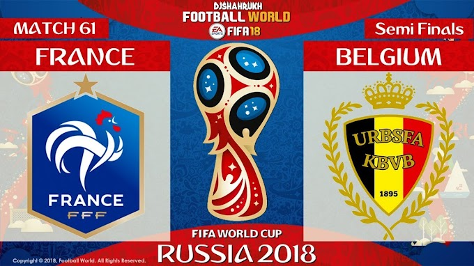 Semi-finals Russia 2018 , Free IPTV to watch France vs Belgium
