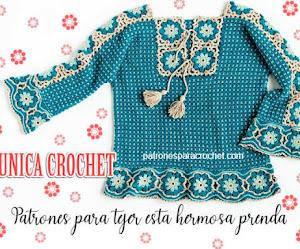 Patrones de Túnica Crochet con Estilo Folk