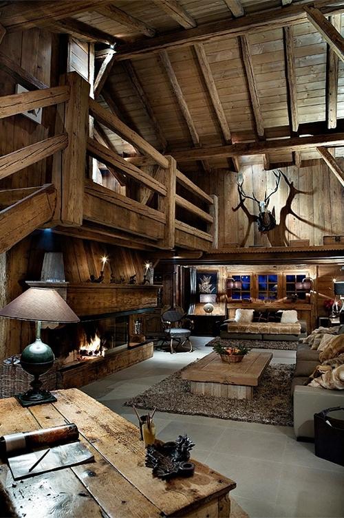 30 rustic chalet interior design ideas architecture architecture design. Black Bedroom Furniture Sets. Home Design Ideas