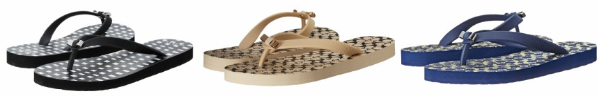 Coach Amel Flip Flops in Black, Tan, or Navy $23 (reg $40)