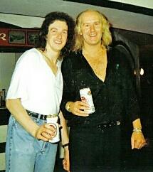 Steve Overland with DJ Andy Fox