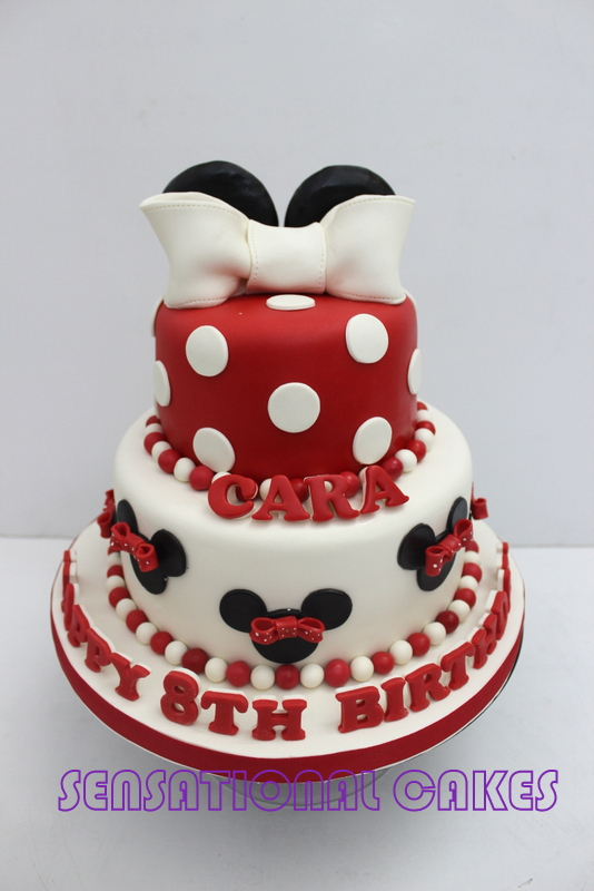 The Sensational Cakes RED WHITE MINNIE THEME CHILDREN BIRTHDAY CAKE
