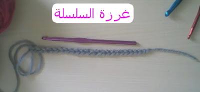عمل غرزة السلسلة . اساسيات الكروشي . crochet . دروس تعليم الكروشيه .تعليم الكروشيه للمبتدئات .