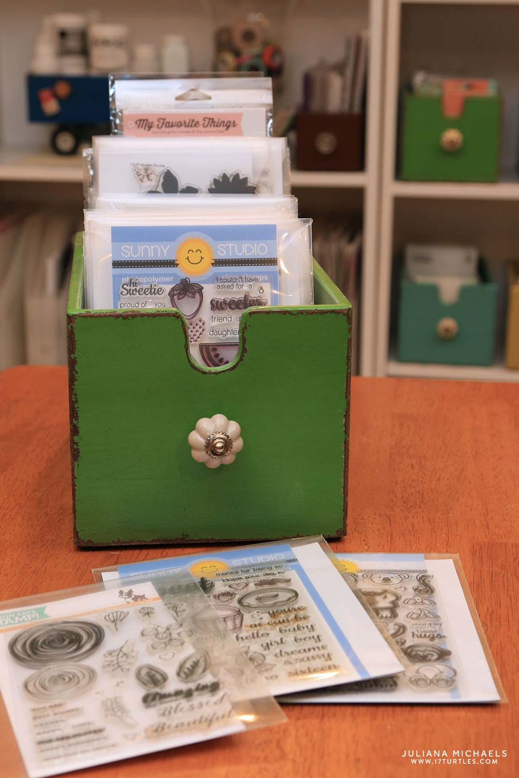 Card Making Storage Ideas Part - 19: Scrapbook And Card Making Storage Ideas - Juliana Michaels Of 17turtles  Shares Her Creative Space And