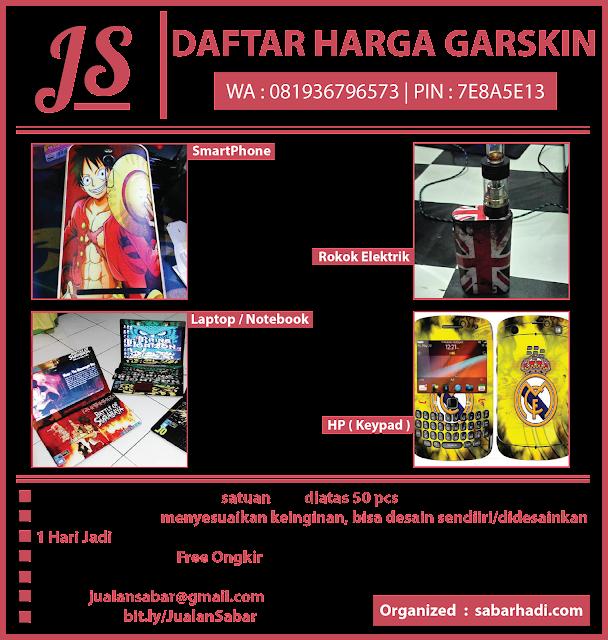 Daftar Harga Garskin