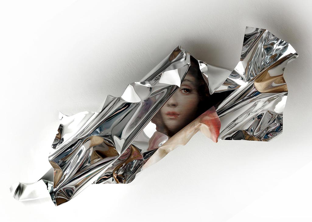 05-Martin-C-Herbst-Oil-Painting-on-Folded-Mirror-Polished-Aluminium-Foil-www-designstack-co