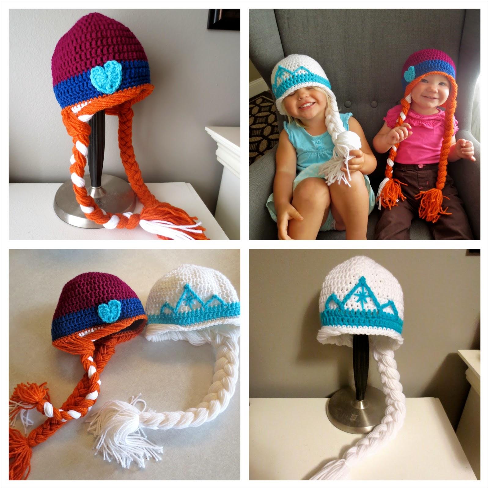 HanDIY Tutorials  Free Frozen Inspired Anna and Elsa Crochet Hat ... c7f6c611cfd