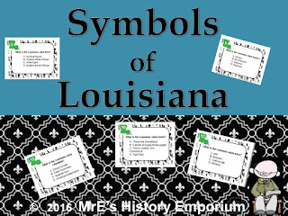 https://www.teacherspayteachers.com/Product/LOUISIANA-State-Symbols-Task-Cards-2631094