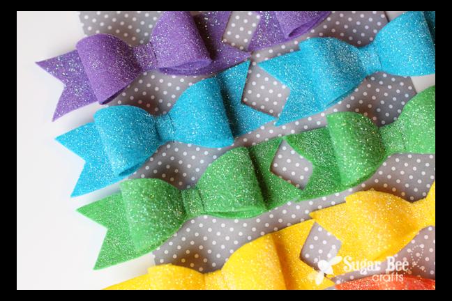 How To Make Glitter Felt Hair Bows Super Easy Diy Template