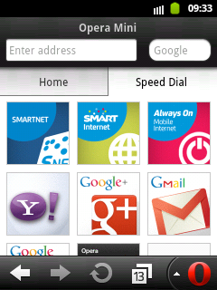 Opera Mini for Samsung Galaxy and other Android Phones