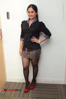 Telugu Actress Priyanka Pallavi Stills in Micro Mini Skirt at Nenosthaa Movie Song Launch at Radio City  0064.JPG