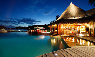 Bora Bora island night
