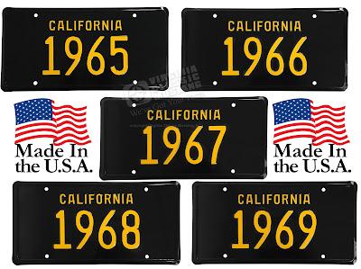Virginia Classic Mustang Blog: Black and Yellow California License