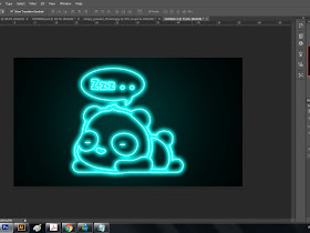 Cara membuat neon effect pada gambar cartoon bagi pemula.. - Responsive Blogger Template