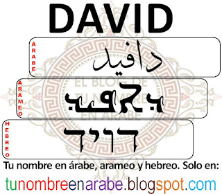 David en hebreo para tatuajes