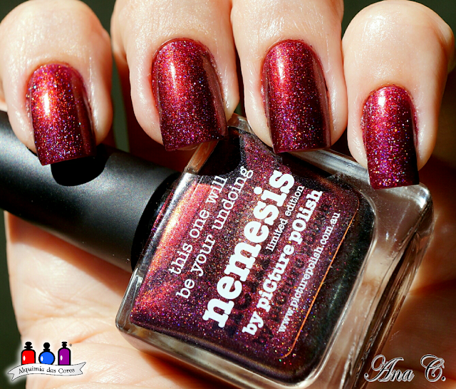 picture polish, nemesis, multichrome, Burgundy, Bordô