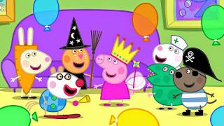 fiesta de disfraces de peppa y sus mejores amigos