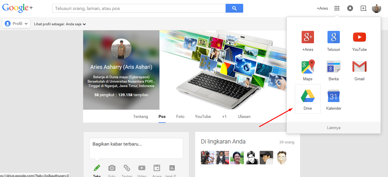 Google Drive pada akun