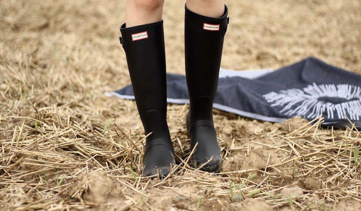 Festival Outfit fashionblogger Stuttgart Hunter Boots Hunter Gummistiefel