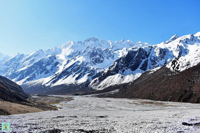 Langshisha Kharka en Trekking Valle del Langtang, Nepal