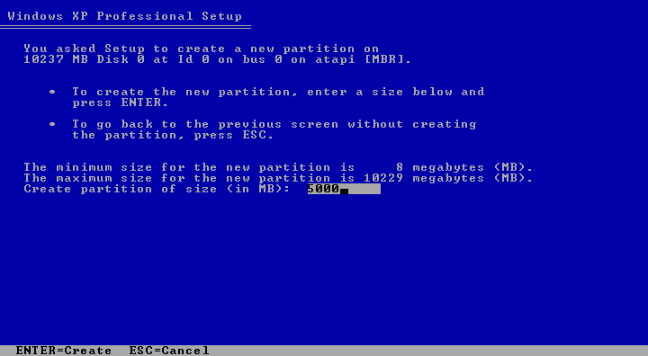Cara Install Windows XP (Lengkap Dengan Gambar) 3