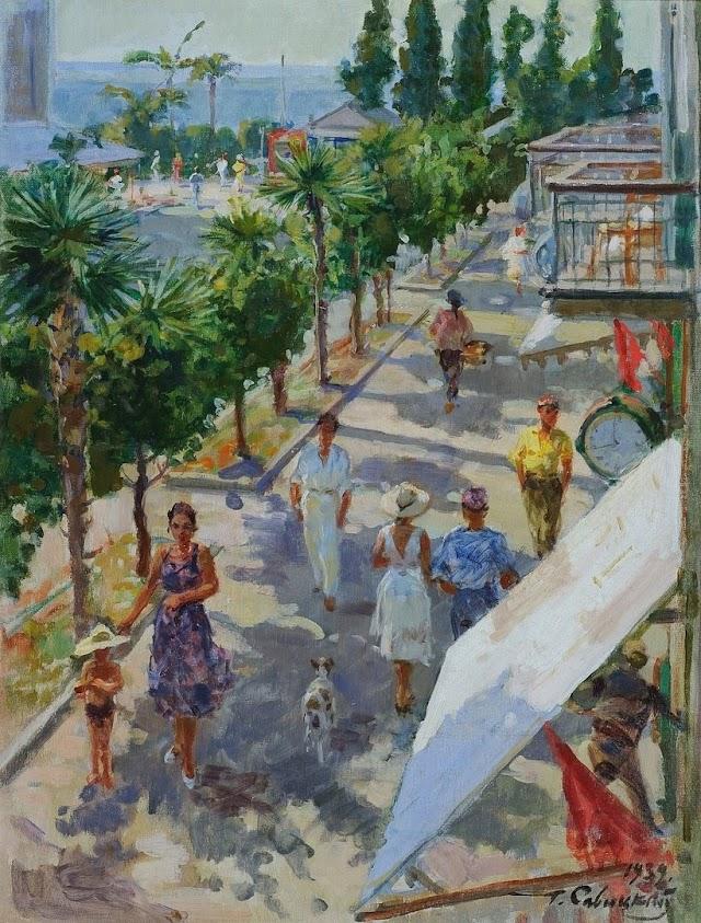 Улица в Сухуми, 1939