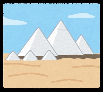 白いピラミッドのイラスト