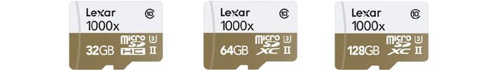 レキサー Lexar microSDHC/microSDXCカード「Professional 1000x」