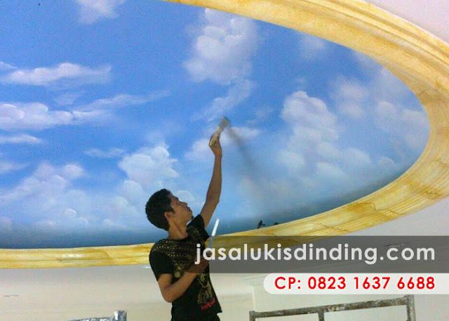 Lukisan Awan Membuat Nuansa Ruangan Lebih Alami dan Menyenangkan