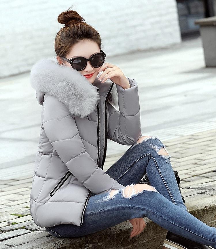 JAKET HOODIE BULU - COAT IMPORT KOREA STYLE - PAKAIAN LIBURAN MUSIM DINGIN
