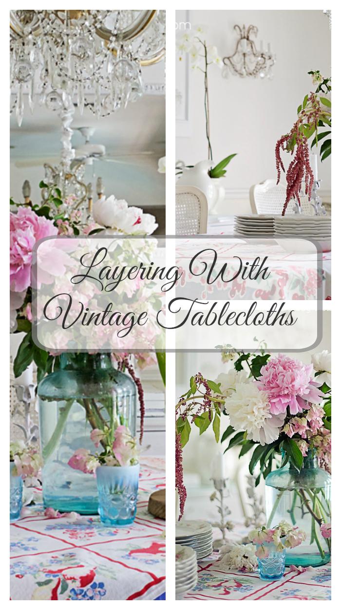 vintage tablecloths shabbyfufublog