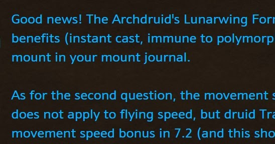 You can mount me in Flight Form in 7.2!!!