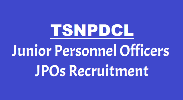 TSNPDCL JPO Junior Personnel Officers