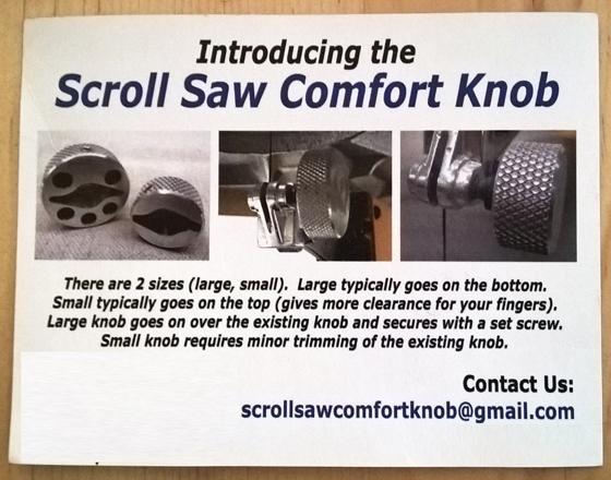 Scroll Saw Comfort Knob