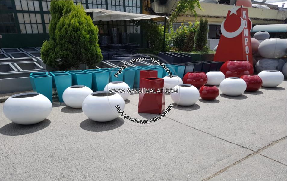 istanbul tuzla fiber / polyester saksı imalatları