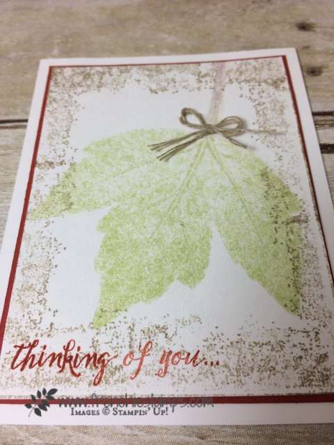 Big Shot leave press impression, Timeless Textures Stampin'Up! Frenchiestamps,