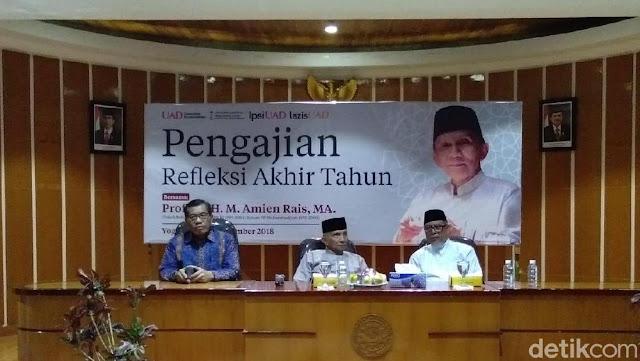 Didesak Mundur oleh Pendiri PAN, Amien Rais: Mereka Pro Jokowi!