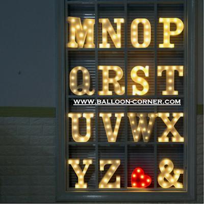 Lampu LED Huruf Ukuran 22 Cm (Murah)