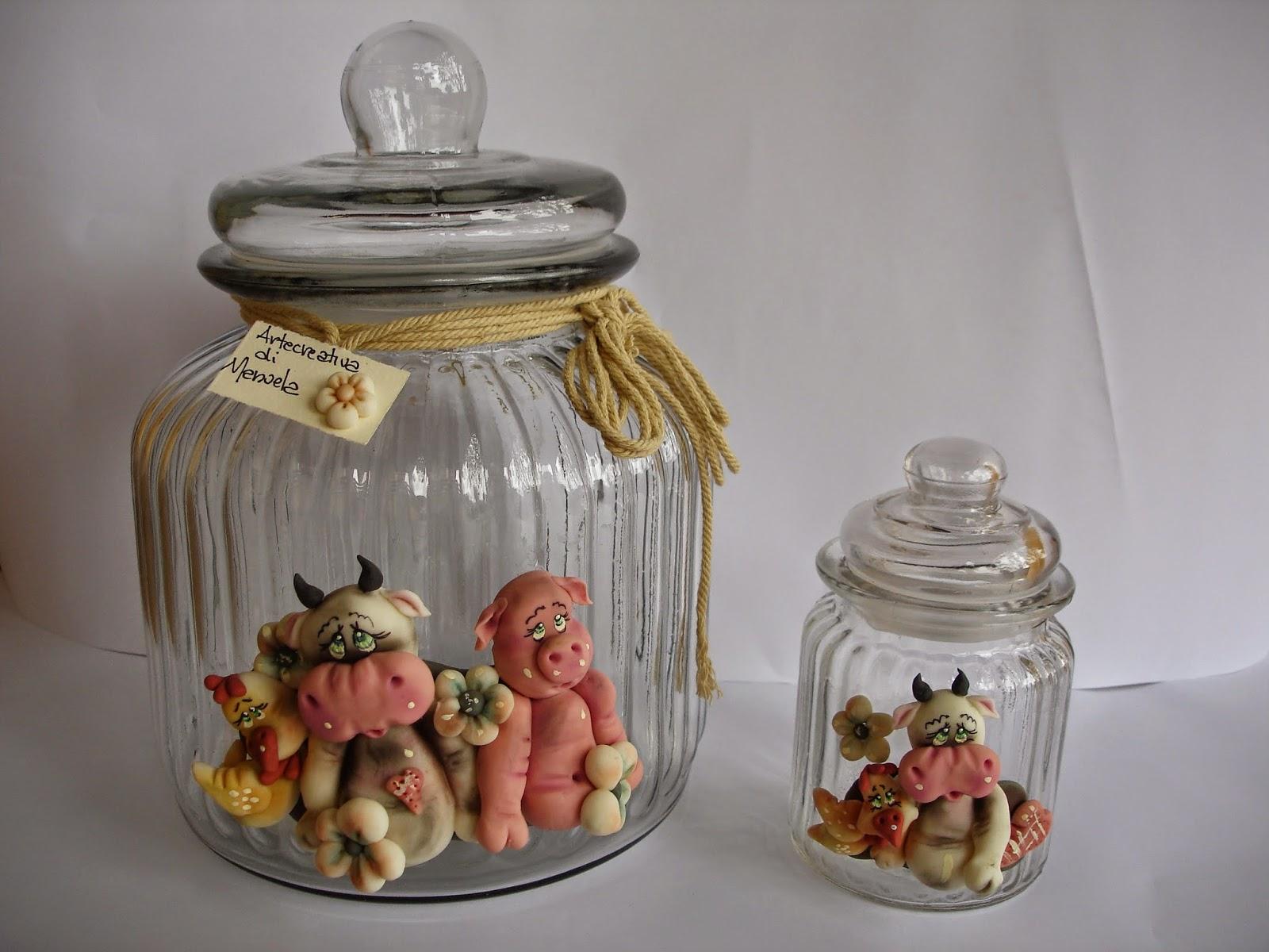 Arte creativa di manuela barattoli per biscotti - Barattoli vetro decorati ...