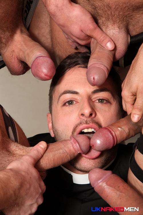 Seven man gangbang for brunette 2